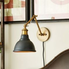 Voltaire Wall Sconce: A pair over the bed saves room on night tables, and adjustable for reading in bed!