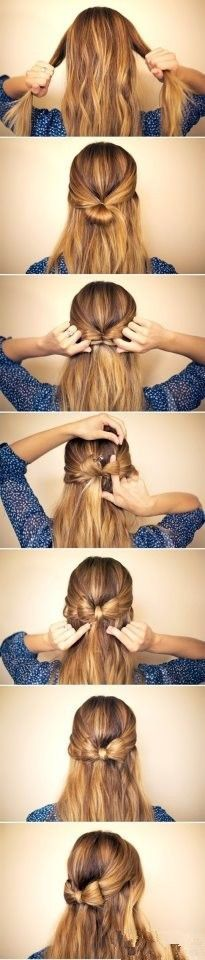 DIY elegant bow braided hair
