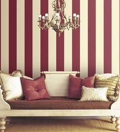Wallpaper Inn Store - Burgundy and Cream Stripe Wide, R479,95 (http://shop.wallpaperinn.co.za/burgundy-and-cream-stripe-wide/)