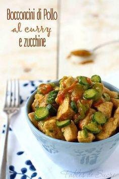 Healthy Recipes Bocconcini di pollo al curry e zucchine Cooking Recipes, Healthy Recipes, Zucchini, Italian Recipes, Food Inspiration, Love Food, Chicken Recipes, Food Porn, Easy Meals