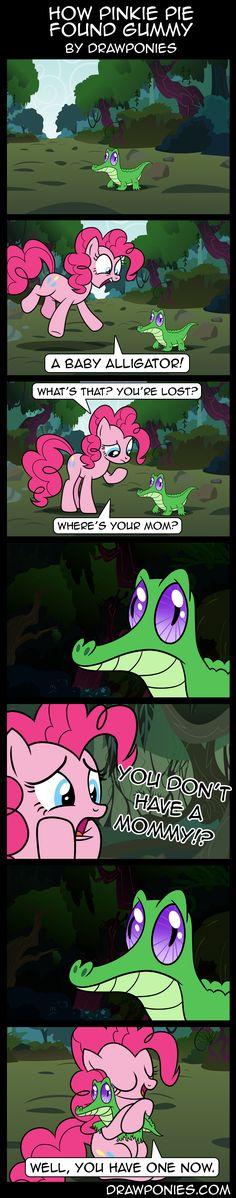 #599256 - artist:drawponies, comic, cute, gummy, hug, pinkie pie, safe - Derpibooru - My Little Pony: Friendship is Magic Imageboard