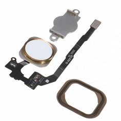 #BangGood - #Eachine1 Replacement White & Gold Home Button Flex Cable Assembly With Seal & Bracket for iPhone 5S - AdoreWe.com