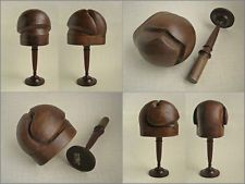 1940s/50s Hand Sculpted DIOR NU LOOK Milliners HALF HAT Wood Block Tool & Stand
