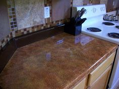 Faux Granite Countertops Cost : ... on Pinterest Track lighting kits, Old doors and Laminate countertops