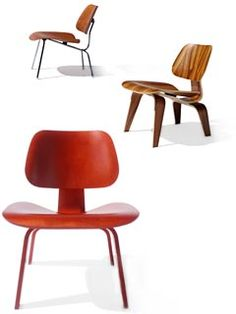Eames Molded Plywood Chairs // could be an option at discounted price, these are comfortable and look great as a pair