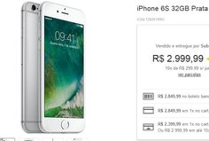 iPhone 6s 32GB iOS9 3G/4G Câmera 12MP << R$ 215999 >>