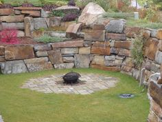 """McGregor Lake 8-14"""" drystack and Small Oversized Drystack Retaining Wall from…"""