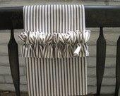 set of 2 ticking stripe dish towels {blue, red, chocolate brown or khaki}, $16.50
