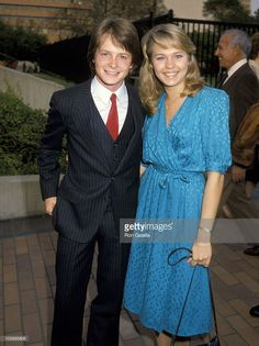 Michael J. Fox and Kari Michaelson during NBC Affiliates Party at La Brea Tar Pits Museum in Los Angeles, California, United States. Michael J Fox, Bttf, Kendall Schmidt, Marty Mcfly, Back To The Future, Party Photos, Celebs, Celebrities, Celebrity Couples