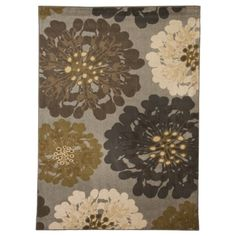 """Mohawk Home Flowers Area Rug - Cocoa Praline Target $280 6'6""""x10"""