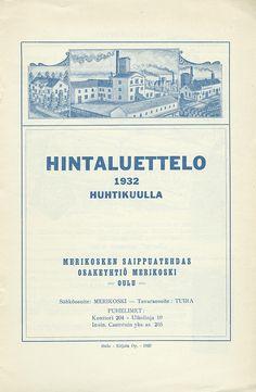 Hintaluettelo, Oulu 01.04.1932 - Pienpainatteet - Digitoidut aineistot - Kansalliskirjasto