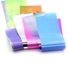 10色/ロットネイルアート最新ホロガラスネイル箔光沢のあるレーザー箔転送キャンディカラーネイルステッカーミラー箔