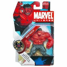 Hasbro Marvel Universe Year 2008 Series 1 Single Pack 4-1/2 Inch Tall Action Figure #28 - RED HULK with S.H.I.E.L.D File with Secret Code by Hasbro, http://www.amazon.com/dp/B002AIX3N6/ref=cm_sw_r_pi_dp_T65uqb0SB21TA