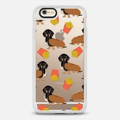 Dachshund cute hot dog and french fries - protective iPhone 6 phone case in Clear and Clear by Pet Friendly >>> https://www.casetify.com/petfriendly/collection | @casetify