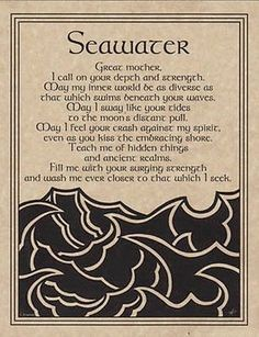 SEAWATER-PRAYER-POSTER-A4-SIZE-Wicca-Pagan-Witch-Witchcraft-BOOK-OF-SHADOWS