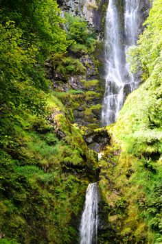 Pistyll Rhaeadr is an enchanting waterfall in the Berwyn Mountains, Wales, and to the west of Oswestry and Shrewsbury. At a height of 240ft (80m) it is the UK tallest single drop waterfall.