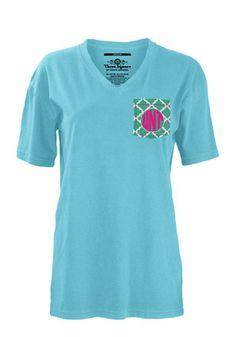 North Texas Mean Green Womens Blue Quatrafoil Unisex Tee