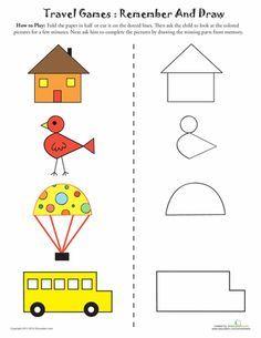 ideas working memory games for kids for 2019 1st Grade Worksheets, Preschool Worksheets, Letter Worksheets, Visual Perception Activities, Gender Reveal Party Games, Working Memory, Memory Games For Kids, Visual Memory, Activity Sheets
