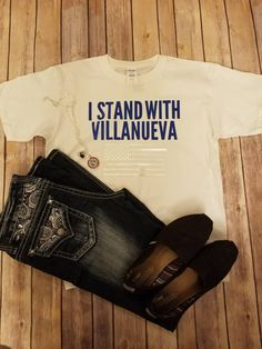 510882fdd I Stand with Villanueva NFL tee. Proud to be an American flag. by  CrayCrayolaLady on Etsy