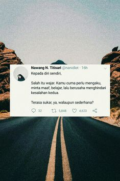 Manusia wajar berbuat kesalahan kok, gak apa apa. Besok kita coba lagi:) Quotes Rindu, Tumblr Quotes, Tweet Quotes, Heart Quotes, Twitter Quotes, Photo Quotes, People Quotes, Book Quotes, Words Quotes