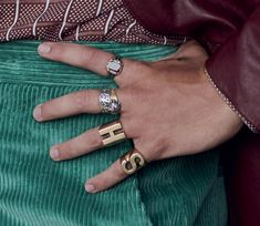 Close up of Harry's rings for The Face. Photography by Collier Schorr. The Face, Harry Styles Fotos, Style Lyrics, Harry Styles Wallpaper, Mr Style, Treat People With Kindness, Harry Edward Styles, Larry Stylinson, One Direction