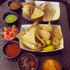 Salsa Party... Which is your favorite? #food #salsa #chips #hot