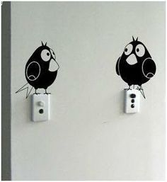 humor  en tus  paredes. Dibuja a estos simpaticos en las llaves de encendido
