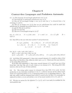 Theory of Computation: Chapter - 6 Context Free Grammars Solution Context Free Grammar, Theory Of Computation, Different Programming Languages