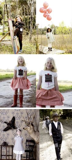 Barbara Beach clothing for kids---adorable...love that red skirt with the pockets and tulle.