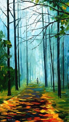 Summer forest — palette knife oil painting on canvas by leonid afremov - size Photo Backgrounds, Background Images, Basic Background, Picsart Background, Oil Painting Abstract, Watercolor Art, Abstract Art, Party Friends, Foggy Forest
