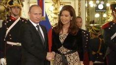 Cristina Fernández recibe a Vladímir Putin como aliado estratégico