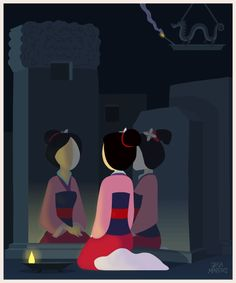 A Girl Worth Fighting For Mulan animated GIF by Jeca Martinez