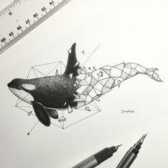 Geometric Beasts   Orca by kerbyrosanes