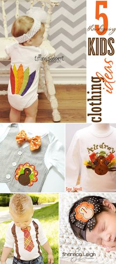 5 Adorable and Unique Thanksgiving Kids Clothing Ideas via blog.thecelebrationshoppe.com