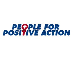 """People For Positive Action logo creation. The """"T"""" and """"O"""" represent a person with positive thinking. Logo by Mikey Lemieux"""
