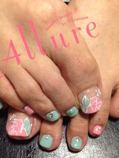 Looking for Toe Nail Art Ideas? Check out our post on 'Toe Nail Art Ideas for Spring and tell us your thoughts! Fancy Nails, Love Nails, Pretty Nails, My Nails, Pedicure Nail Art, Toe Nail Art, White Pedicure, Feet Nails, Toe Nail Designs