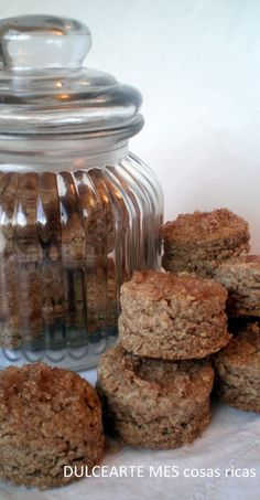 Scons de avena y harina integral Bread Cake, Mason Jars, Muffins, Cooking Recipes, Pudding, Lunch, Homemade, Cookies, Healthy
