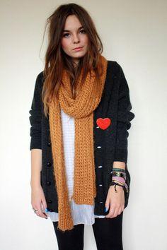 Cardigan/scarf!! It works