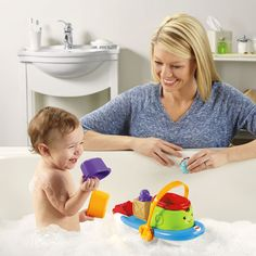 Little mates will love tub time!