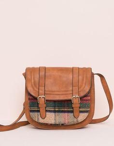 Pull&Bear - для женщин - сумки и рюкзаки - сумка-сэтчел в шотландскую клетку - цвет кожи - 09821334-I2015
