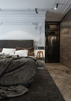 Gorgeous Dark Bedroom Designs With Minimalist and Playful Approach ...