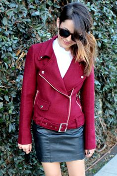 red moto jacket on the blog