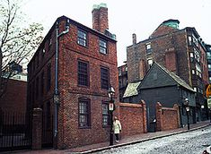 The Paul Revere House - On the night of April 18, 1775, silversmith Paul Revere left his small wooden home in Boston's North End and set out on a journey that would make him into a legend. Today that home is still standing at 19 North Square and has become a national historic landmark. It is downtown Boston's oldest building and one of the few remaining from an early era in the history of colonial America.