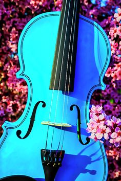 Photograph - Blue Violin In Plum Tree by Garry Gay , All Music Instruments, Plum Tree, Living Room Art, Fine Art Photography, Still Life, Instagram Images, Gay, Design Inspiration, Canvas Prints