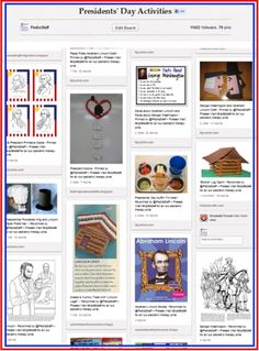 Pinterest Pinboard of the Week: Presidents Day Activities