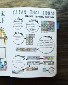 Annual Cleaning Schedule Progress There is nothing better than a clean home. And now I get credit and track what and when I'm cleaning! It has helped me so much, and I know everything is getting done. I fill in each box with that corresponding month's theme color. It is creating a colorful spread, which motivates me even more to scrub-a-dub! This will be one of my stickers for 2018, available in the shop in the next few weeks! Link is above in my bio.