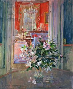Susan Ryder.  The Red Drawing Room (oil on canvas)