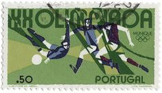 Commemorative stamps of the 1972 Summer Olympics (aka Games of the XX Olympiad), designed by Luis Filipe Abreu.