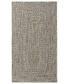Capel Area Rug, Indoor/Outdoor Sea Glass Rectangular Braid 0110-300 Smoke Quartz 3' x 5'