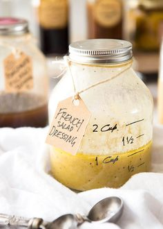 French Salad Dressing (French Vinaigrette) - Made with olive oil, mustard, white wine vinegar and eschalot/shallot. Keeps for up to 2 weeks. www.recipetineats.com
